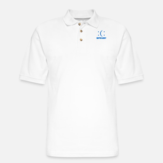 Geek Polo Shirts - Bipolar - Men's Pique Polo Shirt white