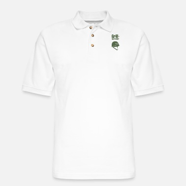 Grill Instructor Grill Instructor - Men's Pique Polo Shirt
