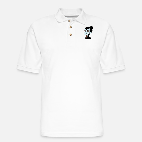 Fangs Polo Shirts - Vampire - Men's Pique Polo Shirt white