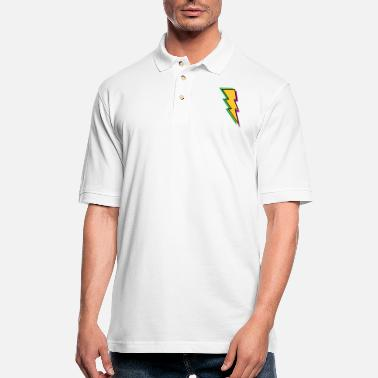 Relâmpago Trueno - Rayo - Flash - Energy - Power - Men's Pique Polo Shirt