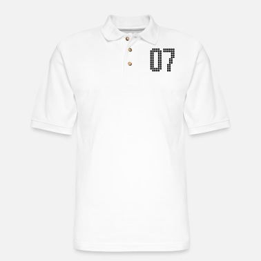 Jersey Number 07, Numbers, Football Numbers, Jersey Numbers - Men's Pique Polo Shirt