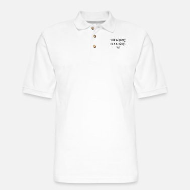 Lifeshort Life is short - get a divorce - Men's Pique Polo Shirt