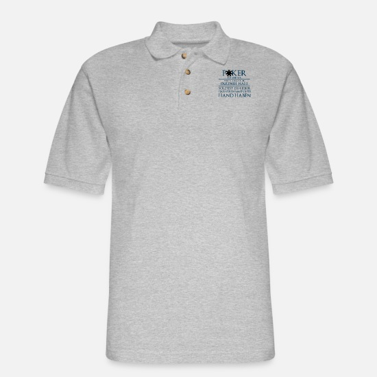 Poker Polo Shirts - Gambling - Men's Pique Polo Shirt heather gray