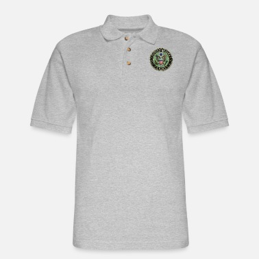 Seal Worn US Army Seal - Men's Pique Polo Shirt
