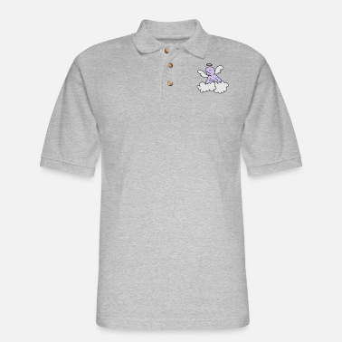 Ángel happy angel (3c) - Men's Pique Polo Shirt