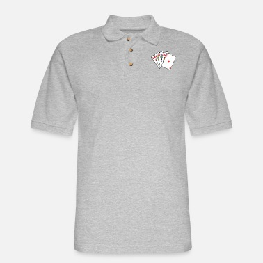 Playing Playing Cards - Men's Pique Polo Shirt