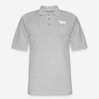 Knut polar bear eisbaer nordpol north pole alaska9 - Men's Pique Polo Shirt