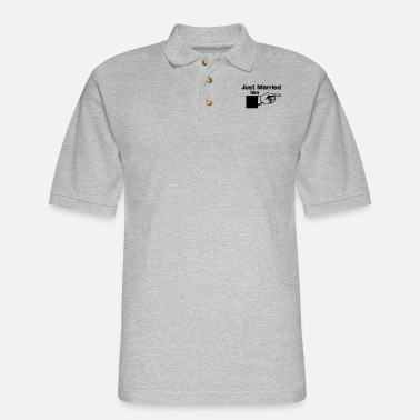Just Married Him Pointing Finger - Men's Pique Polo Shirt