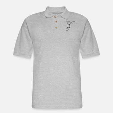 Stick Figure stick figure - Men's Pique Polo Shirt