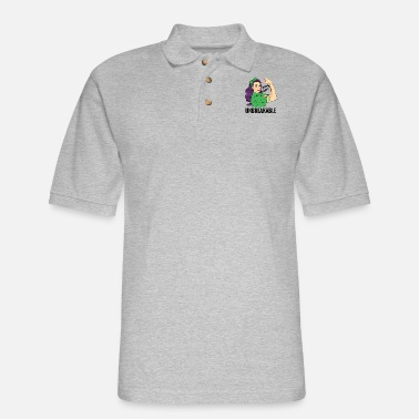 Kidney Warrior Kidney Warrior Unbreakable Kidney Awareness - Men's Pique Polo Shirt