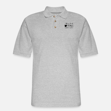 i like to think ohio misses me too wine - Men's Pique Polo Shirt