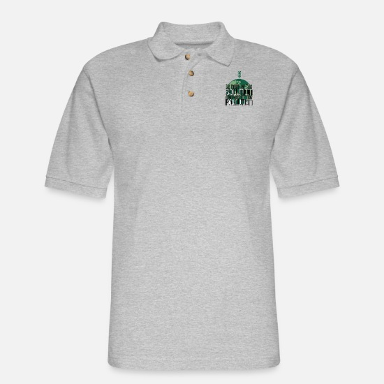 Green Polo Shirts - Be part of the Solution not part of the Pollution - Men's Pique Polo Shirt heather gray