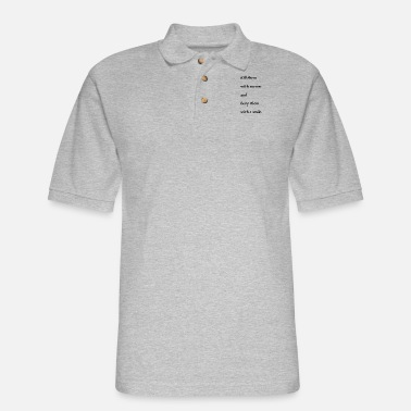 Quote Quotes - Men's Pique Polo Shirt