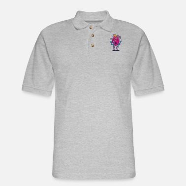 All seeing bunny - Men's Pique Polo Shirt