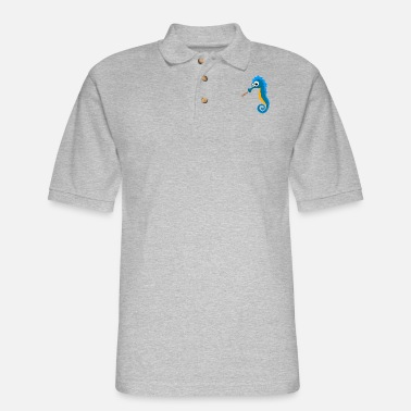 Sea Sea Horse on the Sea - Men's Pique Polo Shirt