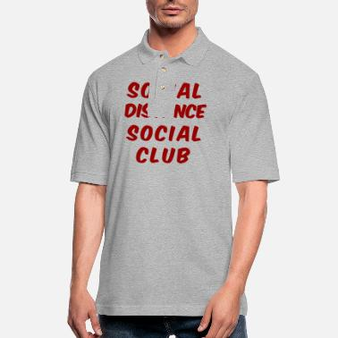 Social Social Distance Social Club Introvert Social - Men's Pique Polo Shirt