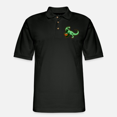Primal Dinosaur Motif Lovers Gift Idea Design - Men's Pique Polo Shirt