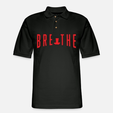 Meditate Funny Meditation Meditating Breathe And Meditate - Men's Pique Polo Shirt