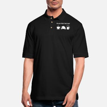 Coffee Motorcycle Coffee Motorcycle Racing Beer - Men's Pique Polo Shirt