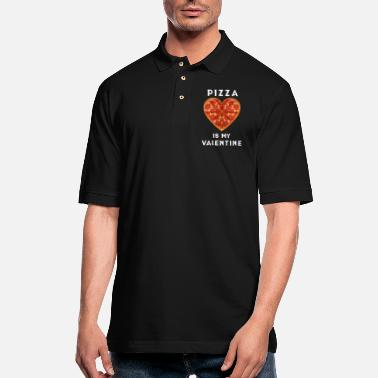 Pizza is my valentine - Men's Pique Polo Shirt