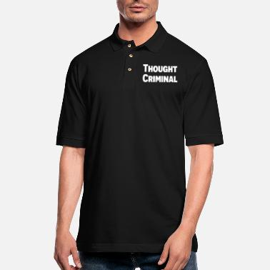 Government Thought Criminal - Men's Pique Polo Shirt