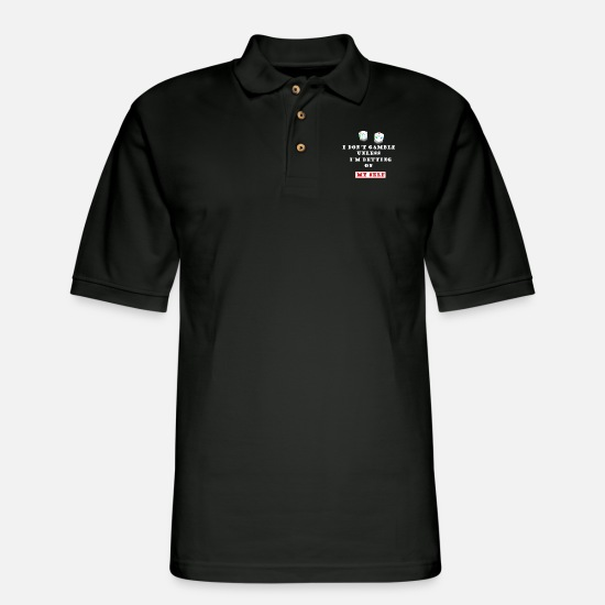 Vegas Polo Shirts - Gambling - Men's Pique Polo Shirt black