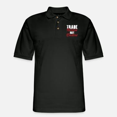 Wealth Trade Numbers Money Stocks Investors Traders Gift - Men's Pique Polo Shirt