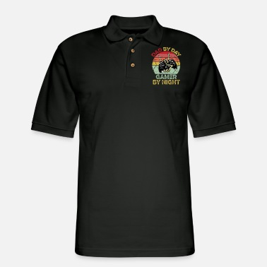 Night Dad By Day Gamer By Night - Men's Pique Polo Shirt