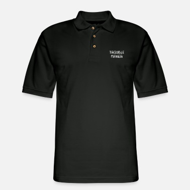 Cynical Trouble Maker - Troublemaker - Cool Funny Quote - Men's Pique Polo Shirt