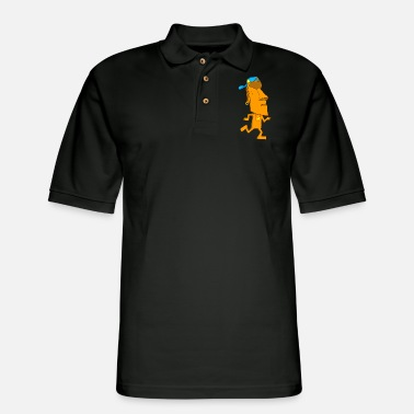Island Moai rapper - Men's Pique Polo Shirt