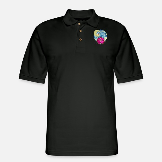 Art Polo Shirts - Fantasy - Men's Pique Polo Shirt black