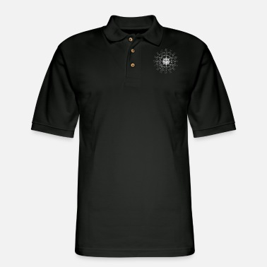 Time Lord Wherever Whenever White Raster - Men's Pique Polo Shirt