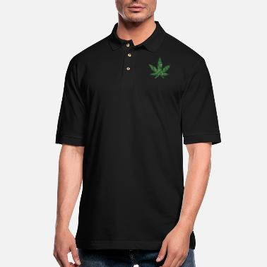 Hashish marijuana leaf of words - Men's Pique Polo Shirt