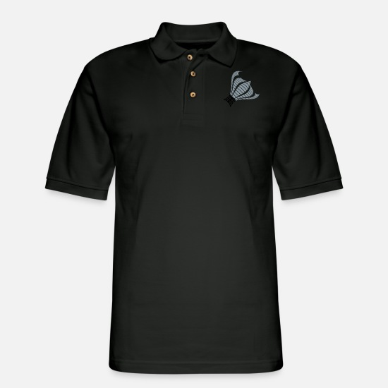 Formal Polo Shirts - Claw Abstract Bars Music Shape Pattern Design Cool - Men's Pique Polo Shirt black