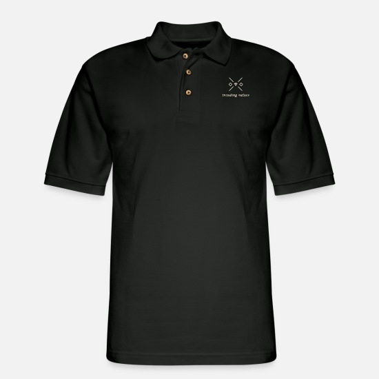 Trending Polo Shirts - Trending Values - Men's Pique Polo Shirt black