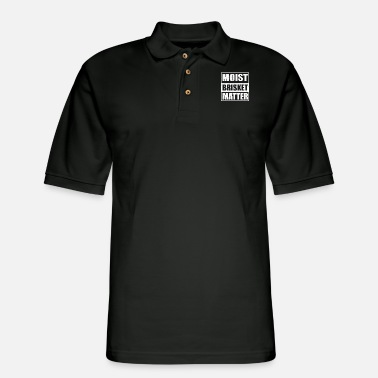 Brisket Moist Brisket Matter - Men's Pique Polo Shirt