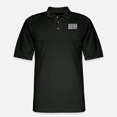 Strip Bacon Strips - Men's Pique Polo Shirt