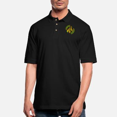 Zealand New Zealand Kowhai Flower Tribal Tattoo Gift Idea - Men's Pique Polo Shirt