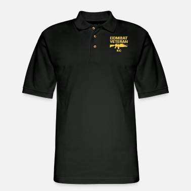 Veteran Combat Veteran IRAQ - Men's Pique Polo Shirt