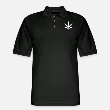 Unique Cannabis Leaf - Men's Pique Polo Shirt