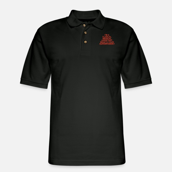 Super Polo Shirts - Medical assistant - Men's Pique Polo Shirt black