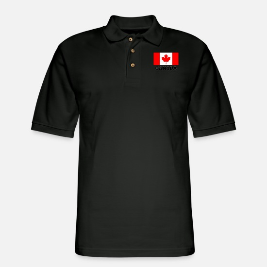 Canada Flag Polo Shirts - Canada flag - Men's Pique Polo Shirt black