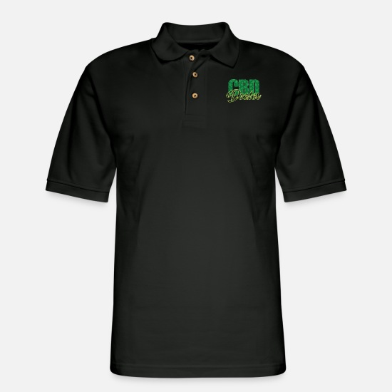 Dealer Polo Shirts - CBD Dealer - Men's Pique Polo Shirt black