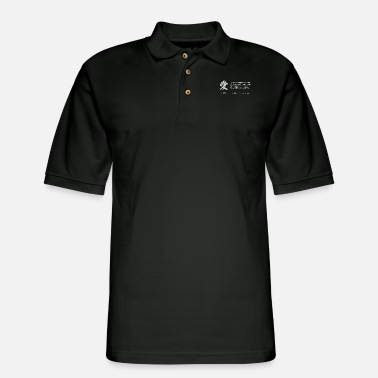 King MLK Love Quote with Japanese Kanji - Men's Pique Polo Shirt