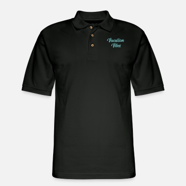 Vacation Vibes - Teal - Men's Pique Polo Shirt