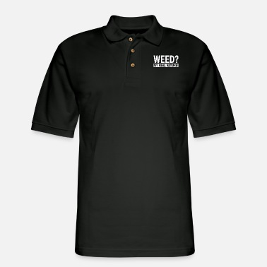 Weed My Real Nature Funny 420 Grower Birthday Gift - Men's Pique Polo Shirt