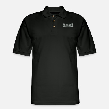 Online Christian Clothing Blessed Christian gospel Christmas gift t-shirt - Men's Pique Polo Shirt