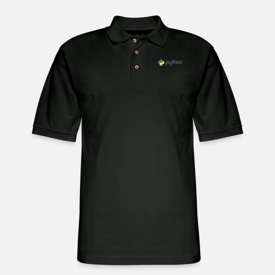 Programming Polo Shirts - Python - Men's Pique Polo Shirt black