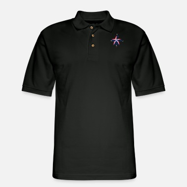 Usa USA Flag 4th July American Red White Blue Star Str - Men's Pique Polo Shirt