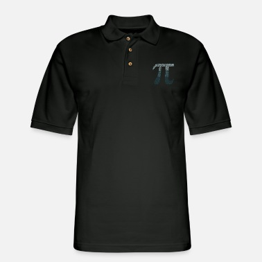 Pi Happy Pi Day Numbers Math Teacher Student March 14 - Men's Pique Polo Shirt